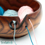 Fa Fonaltartó Tál - Wooden Yarn Bowl