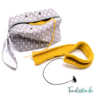 Úti Fonaltartó Táska - Travel Yarn Bag - szürke - gray