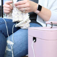 Jimmy Bean - Namaste - Fonaltartó Táska - Yarn Bag - pink - rózsaszín