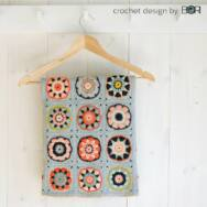 Apple Bossom - baby blanket crochet pattern - babatakaró - horgolásminta