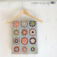 Apple Bossom - baby blanket crochet diy kit - babatakaró - horgolásminta + fonal csomag