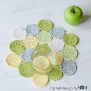 Almazöld Terítő - horgolás minta - Green Apple Placemat - crochet pattern