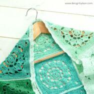 Peppermint Shrug - crochet diy kit - Borsmenta Véllkendő - horgolásminta + fonal csomag