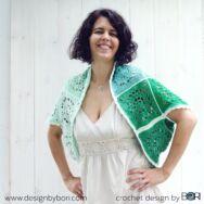 Peppermint Shrug - crochet pattern - Borsmenta Vállkendő - horgolásminta