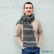 Stone Washed Scarf - knitting pattern - sál - kötésminta