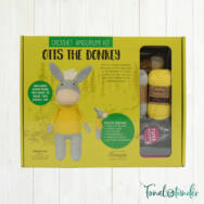 Otis a Csacsi - horgolásminta + fonal csomag - Amigurumi - Otis the Donkey - crochet diy kit