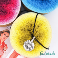 Whirl Színterápia - fonal + eszköz + minta csomag - Whirl Color Therapy Gift Box