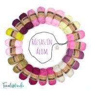 Rózsaszín álom - babatakaró fonal+eszköz csomag - Pink Dream - baby blanket yarn+tool box