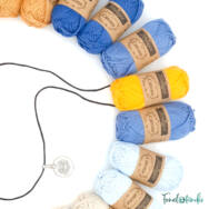 Éjkék álom - babatakaró fonal+eszköz csomag - Night-blue Dream - baby blanket yarn+tool box