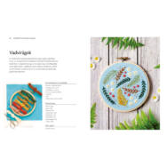 Hímzés kereten  - 20 modern ötlet - hímzésminta könyv