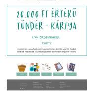 Tündér-kártya - Ajándék utalvány - 20.000 Ft értékben