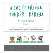 Tündér-kártya - Ajándék utalvány - 5.000 Ft értékben