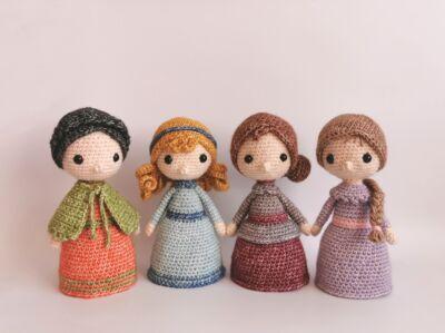 Kisasszonyok - Stone Washed - horgolt amigurumi figurák - Krisztina alkotása