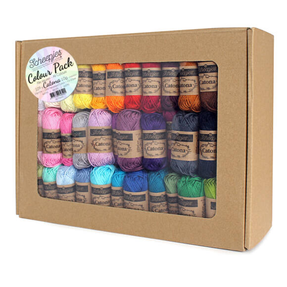 Scheepjes Catona Color Pack - 109 gombolyag pamut fonal  - cotton yarn