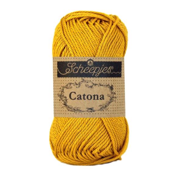 Scheepjes Catona 249 Saffron - yellow - sárga - pamut fonal  - cotton yarn