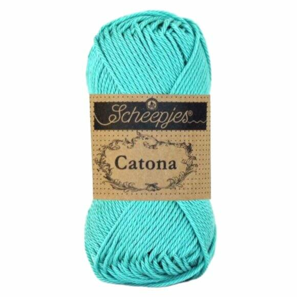 Scheepjes Catona 253 Tropic - kék pamut fonal