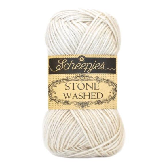 Scheepjes Stone Washed 801 Moon Stone - fehér pamut keverék fonal