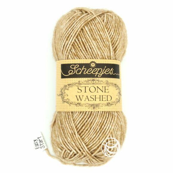 Scheepjes Stone Washed 804 Boulder Opal  -  barna pamut keverék fonal
