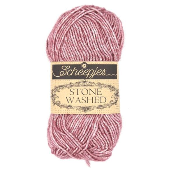 Scheepjes Stone Washed 808 Corundum Ruby - rubinvörös pamut fonal - red cotton yarn
