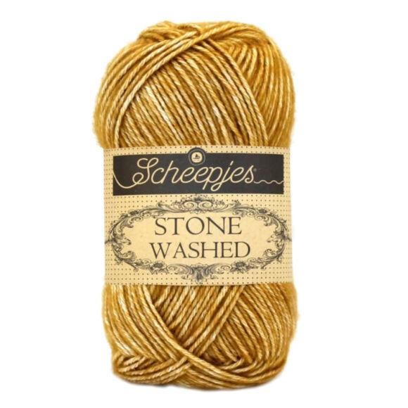 Scheepjes Stone Washed 809 Yellow Jasper - sárga pamut keverék fonal