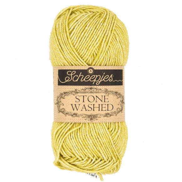 Scheepjes Stone Washed 812 Lemon Quartz - sárgászöld fonal