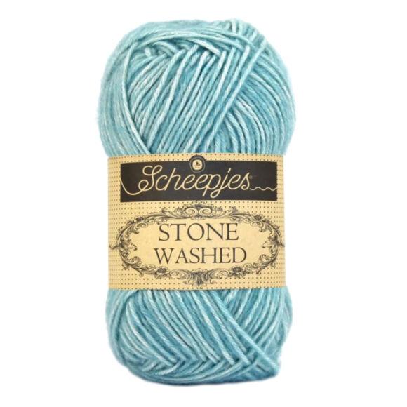 Scheepjes Stone Washed 824 Turquoise - türkiz pamut fonal - cotton yarn