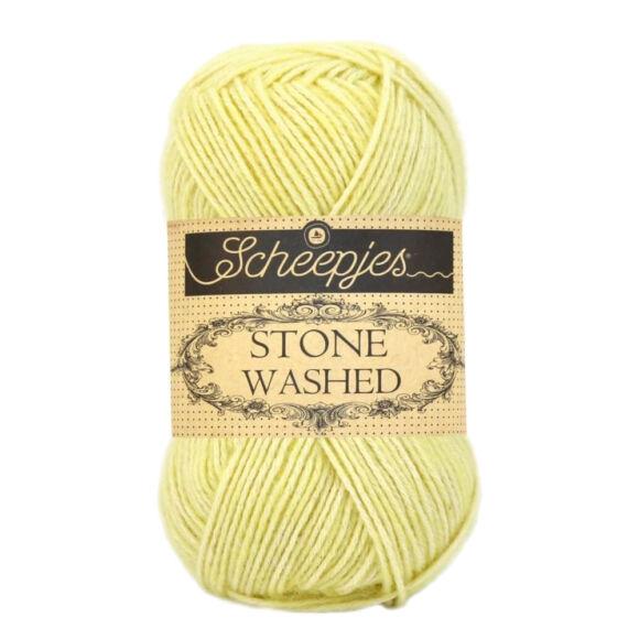 Scheepjes Stone Washed 817 Citrine - citromsárga pamut fonal - light-yellow cotton yarn