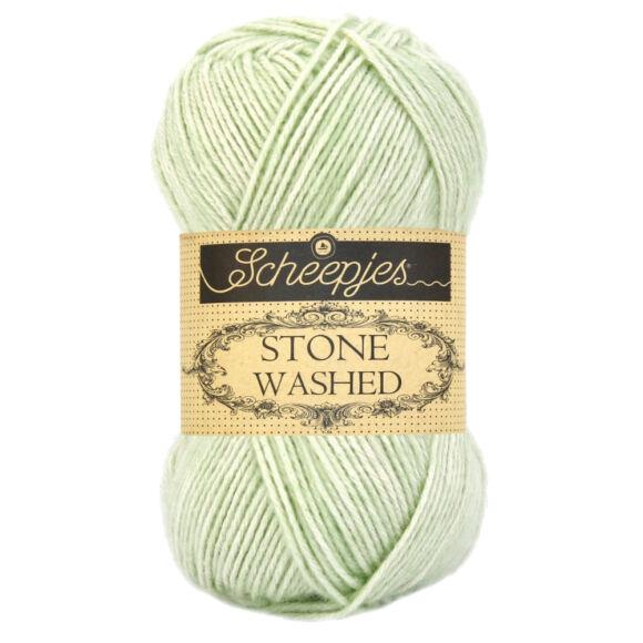 Scheepjes Stone Washed 819 New Jade - világos zöld pamut keverék fonal