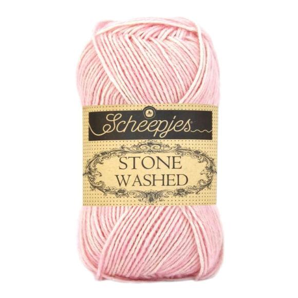 Scheepjes Stone Washed 820 Rose Quartz - rózsaszín pamut fonal - light-pink cotton yarn