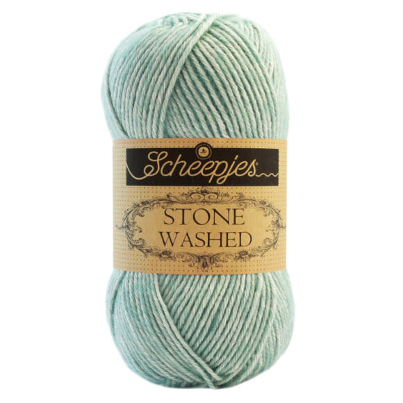 Scheepjes Stone Washed 828 Larimar - kékesszürke pamut keverék fonal