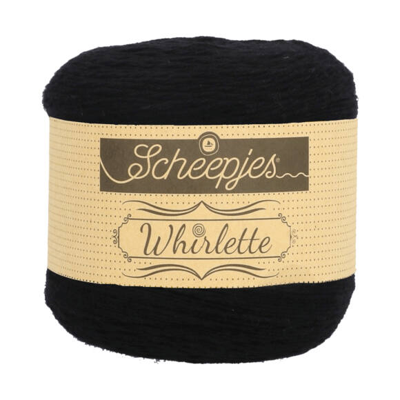 Scheepjes Whirlette 851 Liquorice  - fekete fonal