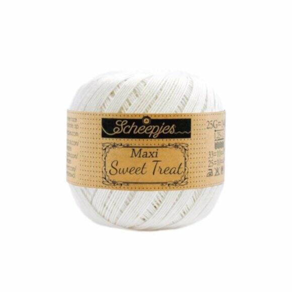 Scheepjes Maxi Sweet Treat 105 Bridal White - törtfehér pamut fonal