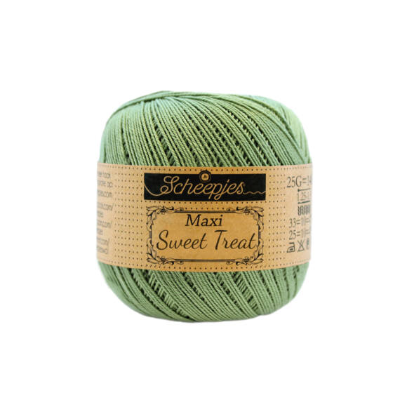 Scheepjes Maxi Sweet Treat 212 Sage Green - pamut fonal  - cotton yarn