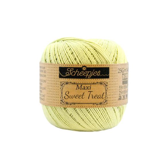 Scheepjes Maxi Sweet Treat 392 LIme Juice - lime zöld pamut fonal  - light green cotton yarn