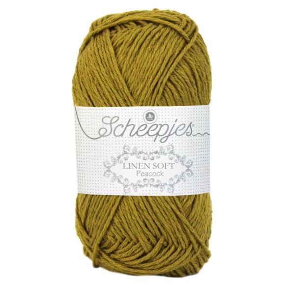 Scheepjes Linen Soft 610 - mustard yellow - mustársárga - len keverék fonal - yarn blend