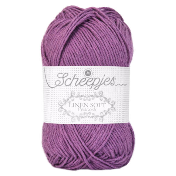 Scheepjes Linen Soft 612 - orgona lila len tartalmú fonal
