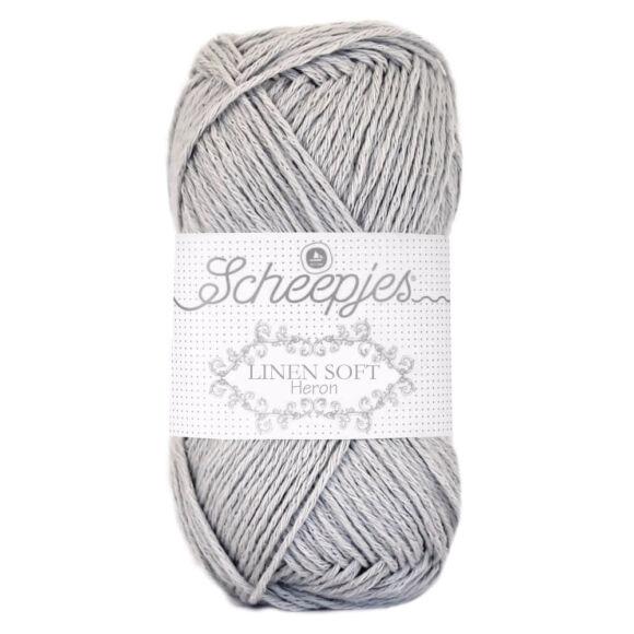 Scheepjes Linen Soft 618 - szürke len tartalmú fonal