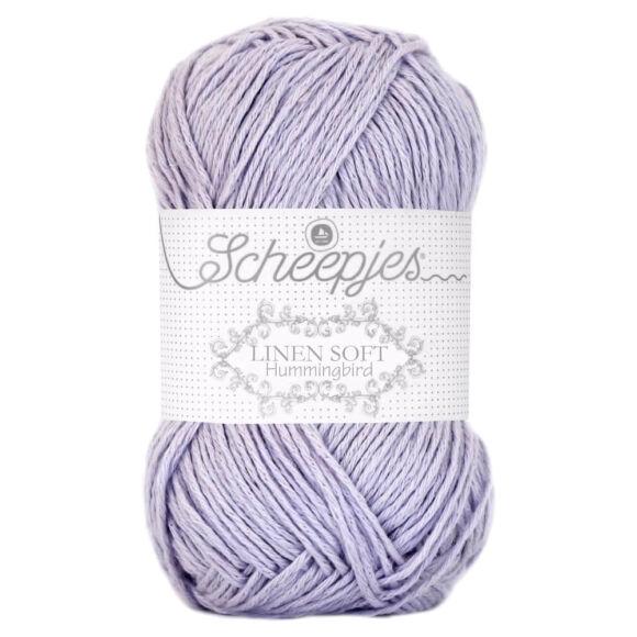 Scheepjes Linen Soft 624 - lilac - lila - len keverék fonal - yarn blend