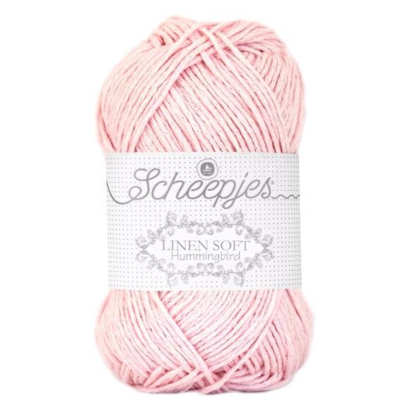 Scheepjes Linen Soft 628 - rózsaszín len tartalmú fonal