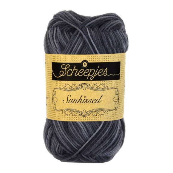 Scheepjes Sunkissed 01 Rock Pool - black - fekete pamut fonal  - cotton yarn