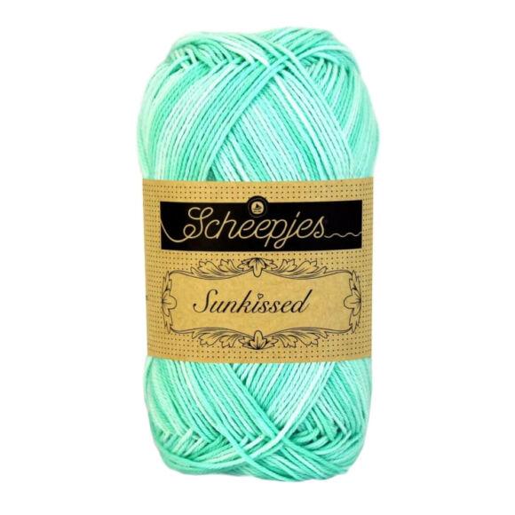 Scheepjes Sunkissed 07 Pistachio Ice - turquoise - türkiz kék pamut fonal  - cotton yarn