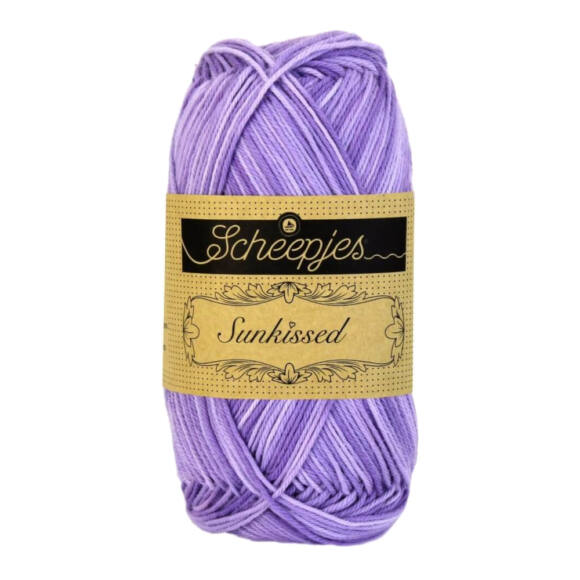 Scheepjes Sunkissed 10 Lavender Ice - lila pamut fonal