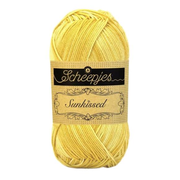 Scheepjes Sunkissed 15 Noonday Sun - yellow - napsárga pamut fonal  - cotton yarn
