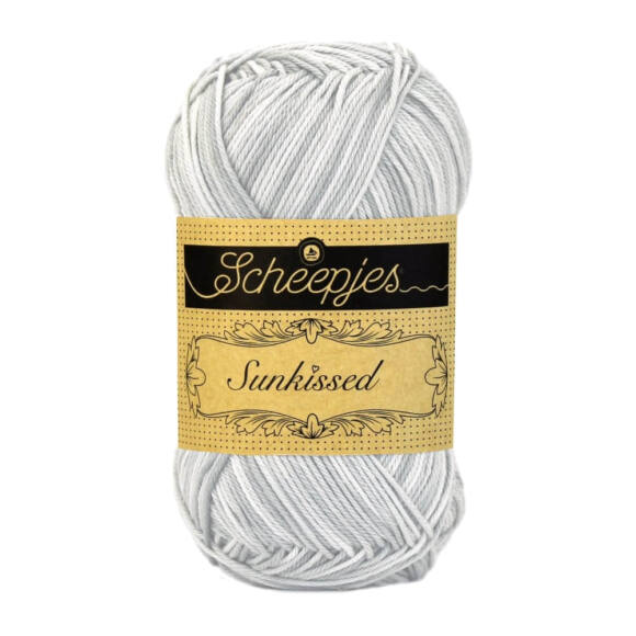 Scheepjes Sunkissed 16 Soft Cloud - gray - szürke pamut fonal  - cotton yarn