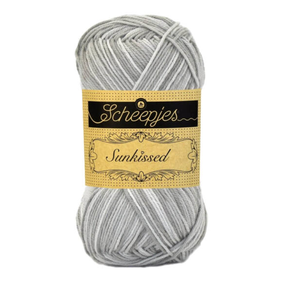Scheepjes Sunkissed 17 Summer Rain - gray - szürke pamut fonal  - cotton yarn