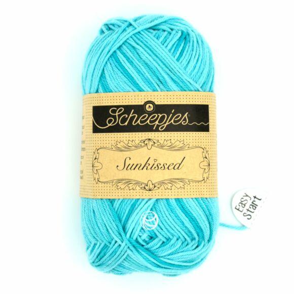 Scheepjes Sunkissed 18 Beach Hut Blue - kék pamut fonal  - cotton yarn