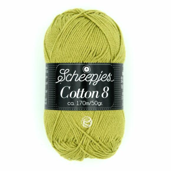 Scheepjes Cotton8 - 669 - olívazöld pamut fonal