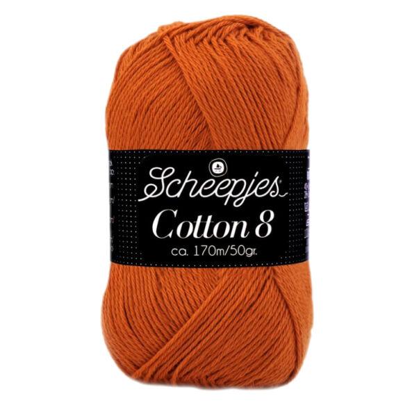 Scheepjes Cotton8 671 dark orange - sötét narancs pamut fonal  - cotton yarn