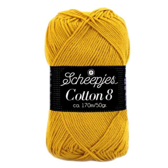 Scheepjes Cotton8 722 mustard yellow - mustársárga pamut fonal  - cotton yarn