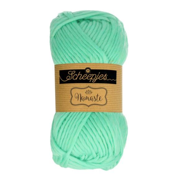 Scheepjes Namaste 627 Wild Thing - világoszöld gyapjú fonal - light green yarn blend